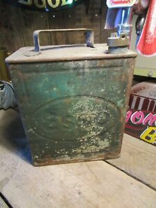 Vintage ESSO petrol can prop ideal mancave garage etc