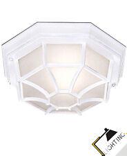 Lámpara de Techo Exterior Ip54 Luz Exterior Negro Blanco Cristal Luz 60w Lámpara