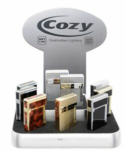 COZY Poseidon Premium Feuerzeug, 5 Motive edel Deluxe Gasfeuerzeug Softflame