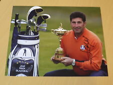 Signé José Maria Olazabal 10x8 Golf photo-Ryder Cup Legend-capitaine de 2012
