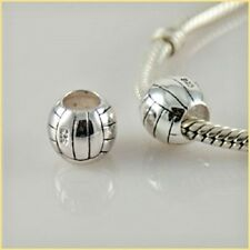 Basketball Charm Bead 925 Sterling Silver