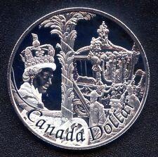 2002 Canada Proof Silver Dollar Coin (Queen Elizabeth II 50th) 25.175 Grams .925