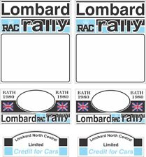 1980 LOMBARD RALLY STICKER /  DECAL SET