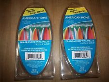 CATCH A WAVE Wax Melts YANKEE CANDLE 2 Packs American Home 12 cubes retired