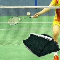 Standard Badminton Net Portable Outdoor Sports Professional Training Square Mesh