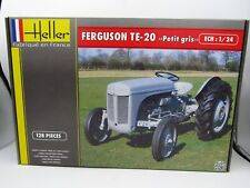 "HELLER FERGUSON TE-20 ""PETIT GRIS"" GRAY TRACTOR 1/24 SCALE MODEL PARTIALLY BUILT"