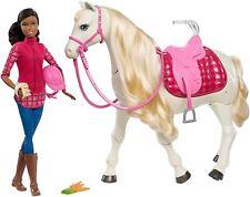 Barbie DreamHorse Voice & Touch Activated Walks & Turn 360 Deg. & Barbie Doll