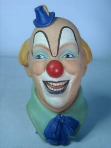 Legend Products CLOWN No 1 + Label 6 Photos  Plaster Chalkware Head Wall Plaque