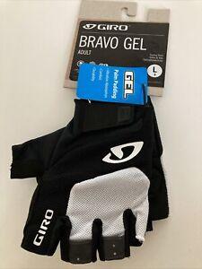 ! Giro Bravo Gel Adult Large Cycling Bicycle MTB Gloves White/Black