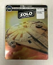 Solo: A Star Wars Story Best Buy Edition Steelbook 4K UHD Blu-Ray NEW SEALED
