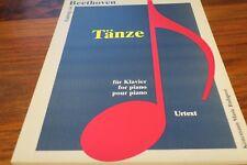 BEETHOVEN  - TANZE  -- pour PIANO  --  PARTITION DE MUSIQUE
