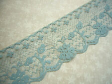 5 yards of 2 1/2 inch Antique Blue chantilly lace trim