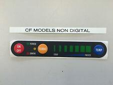Waeco Spares: Button Membrane for CF35 through to CF110 Non Digital 7 LED type