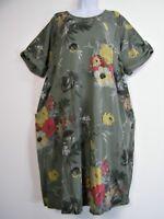 Lagen Look 85% Cotton 3/4 sleeve Dress pockets 5 Colours Plus Size Fits 20-24