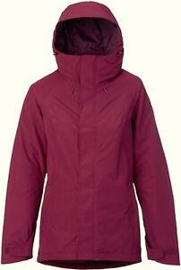 BURTON Women's RUBIX Gore-Tex Snow Jacket - Sangria - XS - NWT