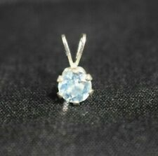 Small Aquamarine in Sterling Silver Pendent