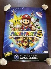 Vintage 2003 Nintendo GameCube Mario Party 5 ToysRus Store Display Sign Poster
