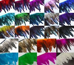 (Yr)Dyed Natural Rooster/Hen/Hackle Feather Fringe Craft trim EarRing Fascinator