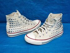 CONVERSE ALL STAR HIGH TOPS WITH STUDDED DETAIL CHUCK TAYLOR  UK  SIZE 5