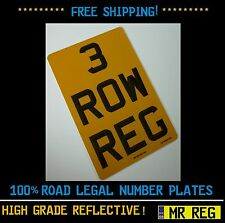"""3 ROW MOTORBIKE /  MOTORCYCLE  REGISTRATION NUMBER PLATE SIZE 7"""" x 10.5"""""""