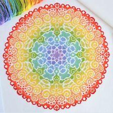 Cross Stitch Kit Spectrum Mandala Modern Design 16 count Aida with DMC Threads