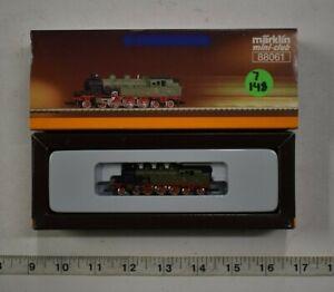 Lot 7-148 * Z Scale Marklin mini-club 88061 - Green Steam Loco - w/box