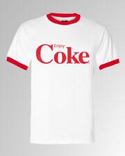 Coca Cola Enjoy Coke Logo  Men Ringer T-shirt