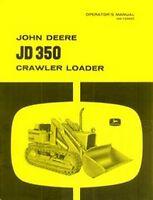John Deere JD 350 Crawler Loader Operators Manual JD