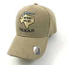 NEW Texas Hat Cap Strapback WE DON'T DIAL 911 Revolver Baseball-Cap Adjustable
