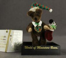 World of Miniature Bears Mohair Christmas Teddy Bear WALLY 612 Stocking Panda