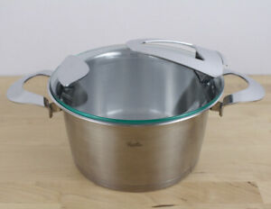Fissler Solea 20 cm Stainless Steel Cooking Pot Casserole Induction Glass Lid