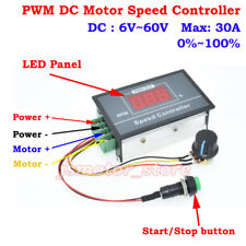 DC 6-60V 12V 24V 36V 48V 30A PWM DC Motor Speed Controller Digital LED Display