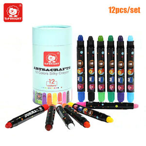 Topbright Assorted  of 12 Wax Crayons Kids Toy Colours Childrens Crayon P9Z1