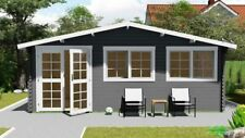 Gartenhaus aus Holz 6x4m Blockhaus 40mm Holzhaus Blockbohlen Garten Haus Hütte