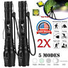 2PCS Tactical 350000LM Zoomable Focus T6 LED High Power Flashlight 18*65*0 Torch