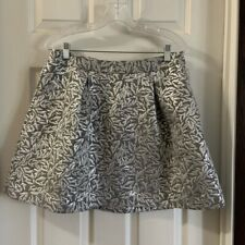 NWT Behnaz Sarafpour for Target Silver/Grey Print Skirt size 9