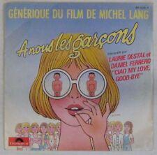 A nous les garçons 45 tours Michel Lang 1984