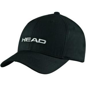 UNISEX HEAD PROMOTION EMBROIDERED ADJUSTABLE TENNIS CAP (BLACK) #287299-BK