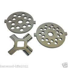 KITCHENAID FGA FOOD GRINDER/MINCER FINE AND COARSE GRINDING PLATES WITH A CUTTER