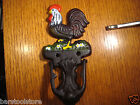 Rooster Door Knocker Horseshoe Cowboy Cowgirl Horse Equestrian Cast Iron Western