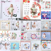 Newborn Baby Girl Boy Cotton Blanket Milestone Photography Photo Props Shoots