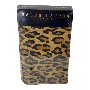 RALPH LAUREN HOME 2 Aragon ~ Standard Pillowcases Leopard Print Set NEW