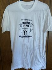 VTG FRUIT OF THE LOOM I SURVIVED THE BLIZZARD OF 1993 T-SHIRT L AMES NEW YORK