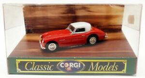 Corgi 1/43 Scale Model Car D733 - Austin Healey 3000 - Red/White