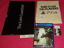 THE LAST GUARDIAN SONY PS4 100% FR + LITHOGRAPHIES 29X21CM NEW + SAC + PIN'S