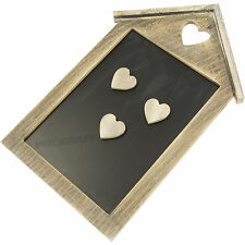 Vintage Shabby Chic Love Heart Magnetic Memo Chalk Notice Black Board w/ Magnets