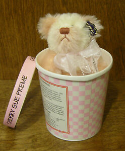 """Annette Funicello Bear Co #88154 CHERRY SUE PREME, 5""""  NEW/Tag From Retail Store"""
