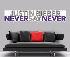 """Justin Bieber nunca digas nunca sin bordes de azulejo mosaico Pared Poster 66 """"x 12"""""""