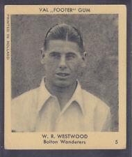 Klene / Val Gum - Footballers 1936 - # 5 V Westwood - Bolton