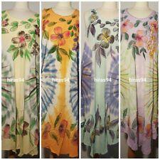 LADIES NEW SUMMER TYE DYE PRINT STYLISH TRENDY UMBRELLA DRESS FITS SIZE 12 - 24